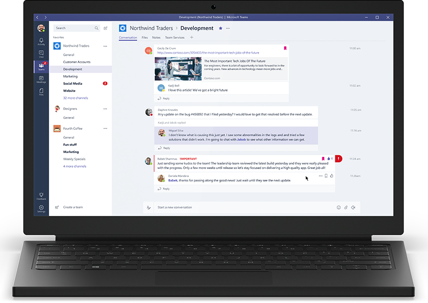 MSFT Teams the new chat-based workspace